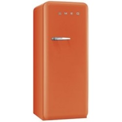 smeg FAB28ROR3 50's Retro Style Refrigerator-Freezer, Orange,