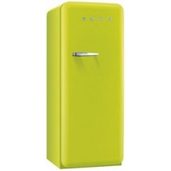 smeg FAB28RLI3 Single-door refrigerator 50s, lime green