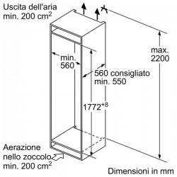 Frigorifero monoporta integrabile KI2823F30