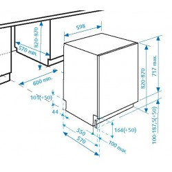 Beko Lavastoviglie DIN6830FX30 da 60 cm