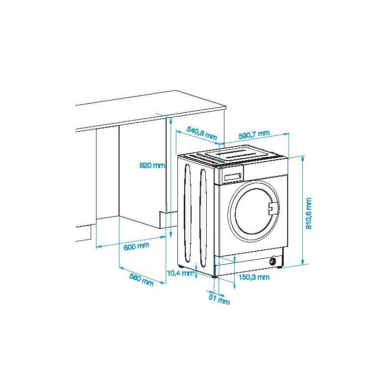 beko lavatrice incasso wmi71241. Black Bedroom Furniture Sets. Home Design Ideas