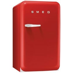 smeg FAB10RR 50's Retro Style Refrigerator with Ice Compartment, Red
