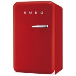 smeg FAB10LR 50's Retro Style Refrigerator with Ice Compartment, Red,