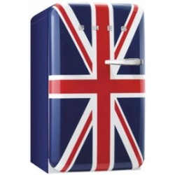 smeg FAB10LUJ 50's Retro Style Refrigerator with Ice Compartment, Union Jack, Left Hand