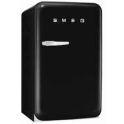 smeg FAB10RNE 50's Retro Style Refrigerator with Ice Compartment, Black,