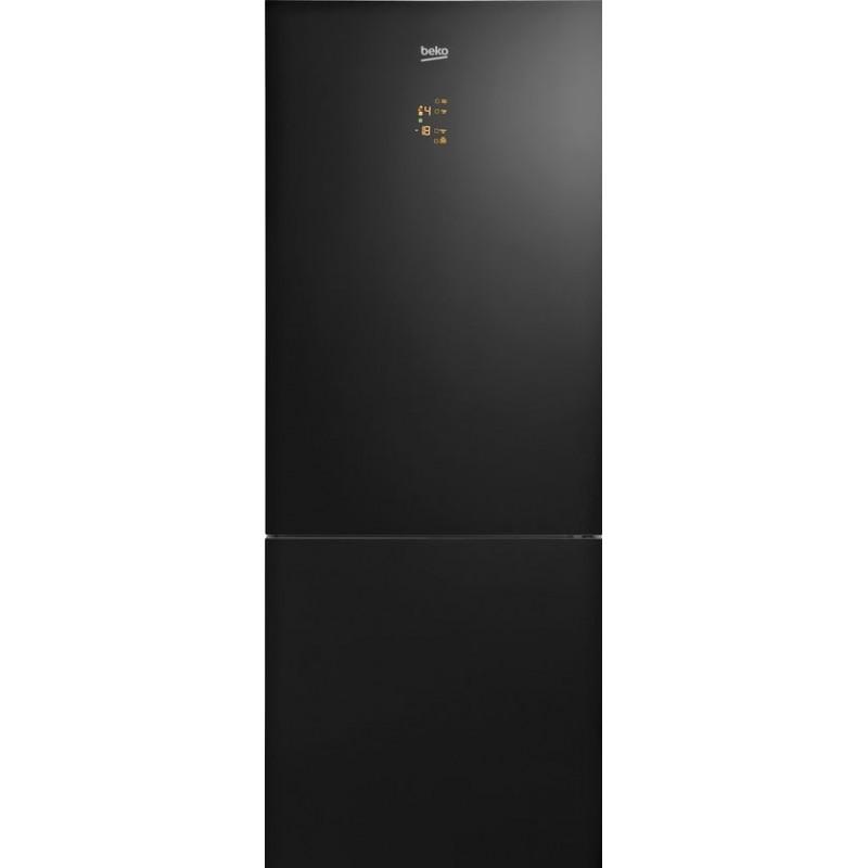 Beko Frigorifero con congelatore CN147243GB cristallo nero