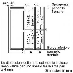 bosch KIS86AF30 Frigorifero combinato  con cerniera piatta,